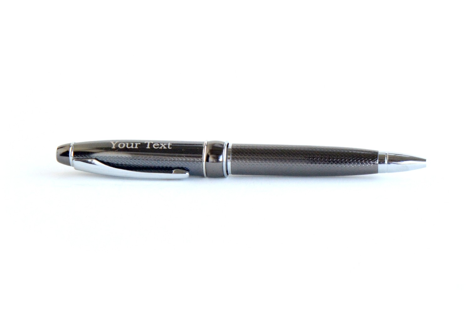 Coarsely Ground Black Personalised Pen