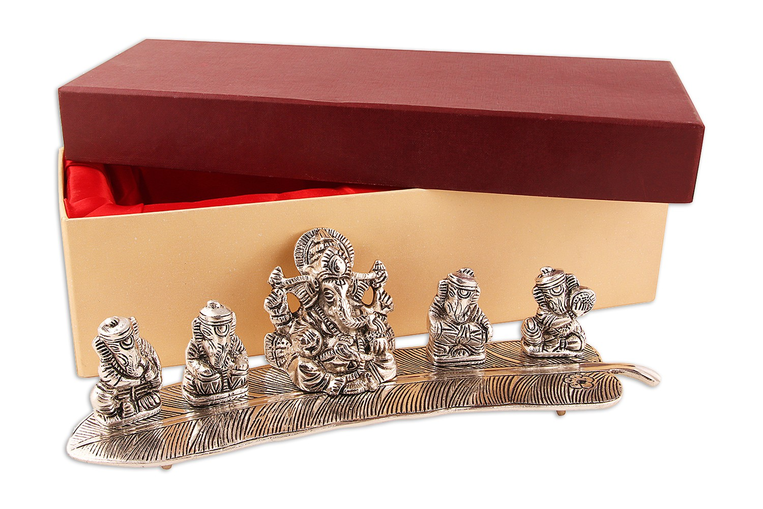 Silver Plated Ganesha 5 in 1