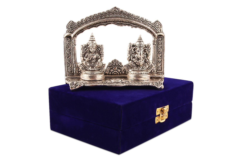 Laxmi Ganesh ji Idol - Silver