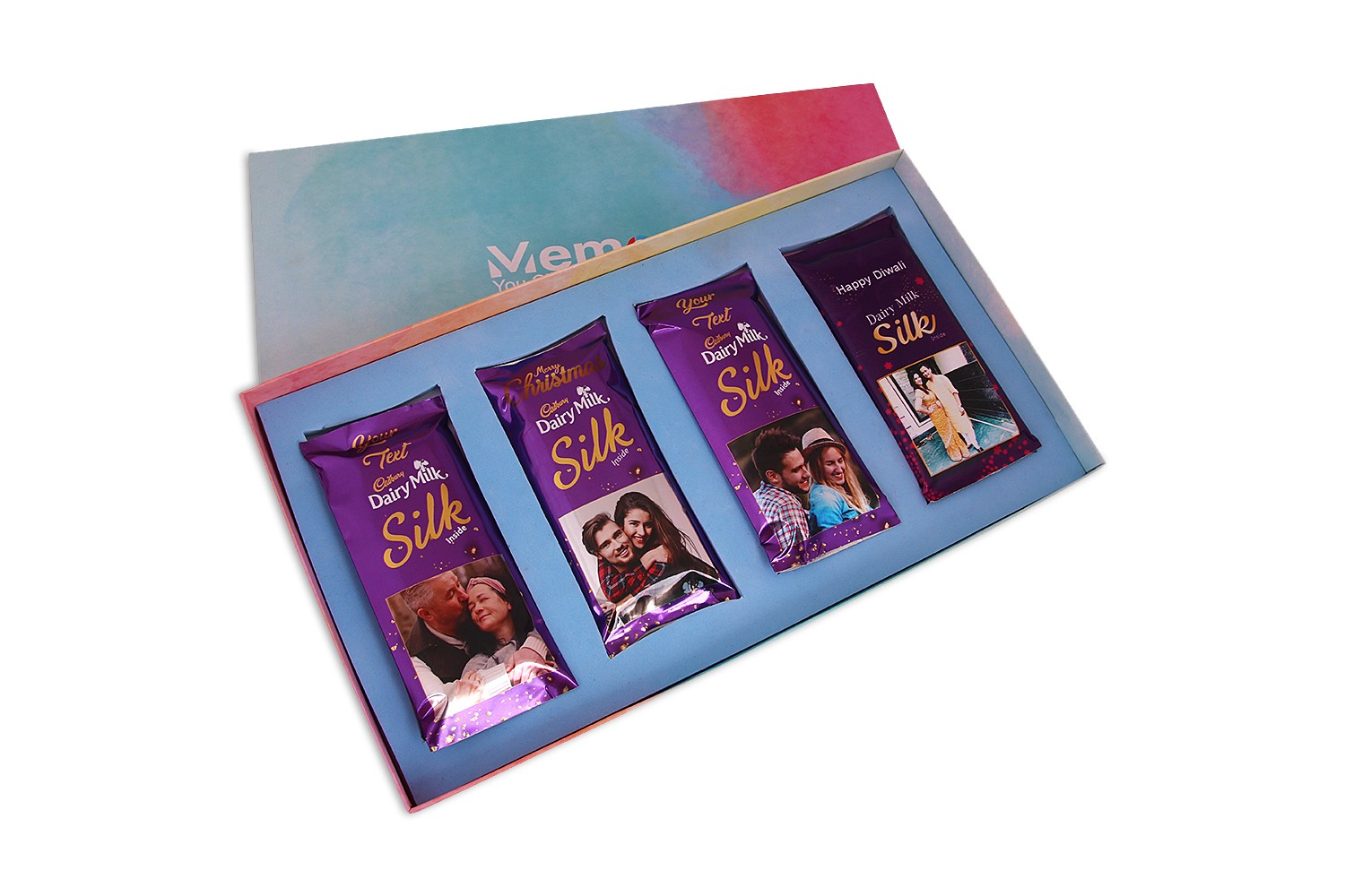 cadbury Dailry milk Silk Customised - Set of 4
