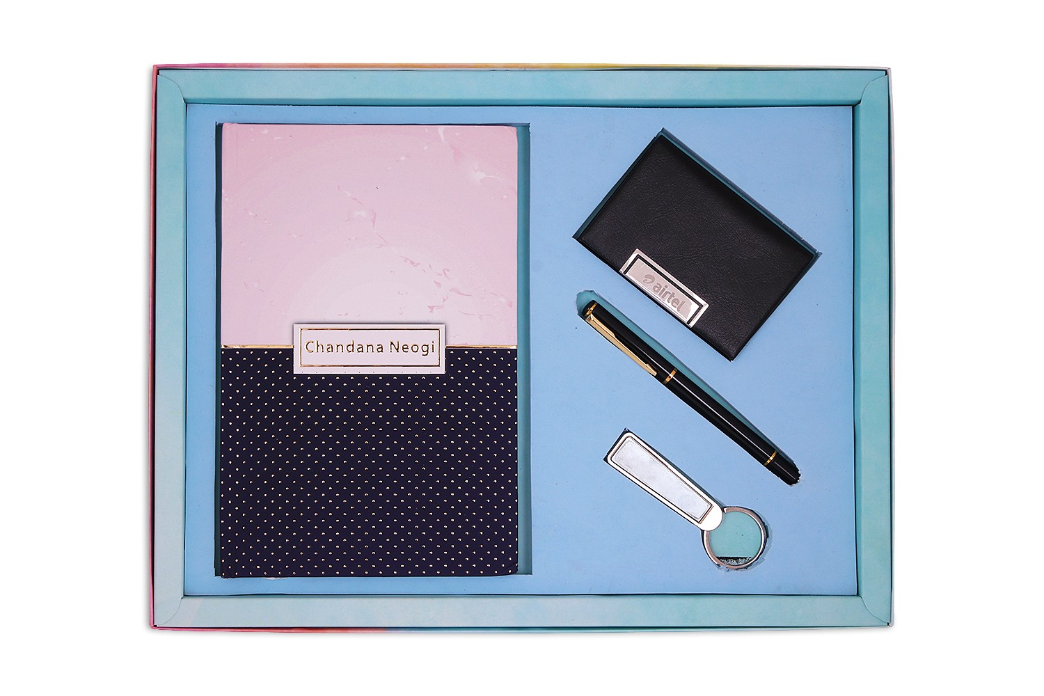 Executive Diary, card Holder, Pen & Key Chain Combo 2