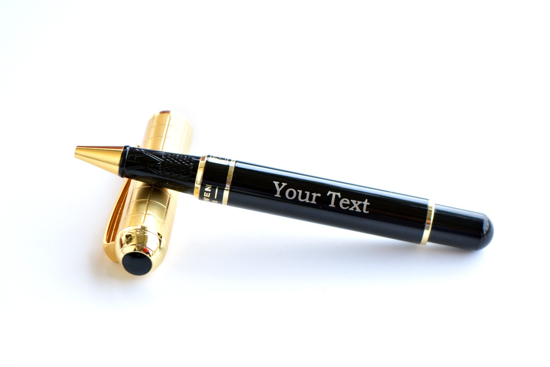 Royal Golden Black Personalised Pen