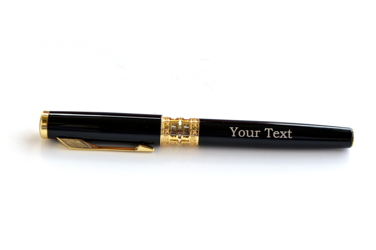 Fragment Gold and Black Personalised Pen