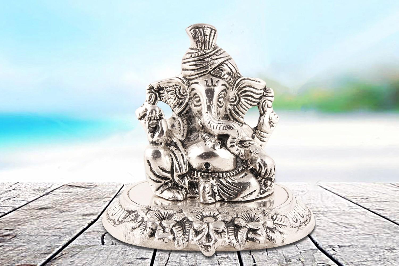 Ganesh Ji Idol - Silver