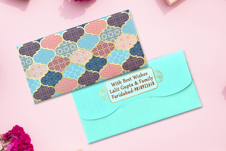 Tile Shagun Envelope Personalised- Pack of 12