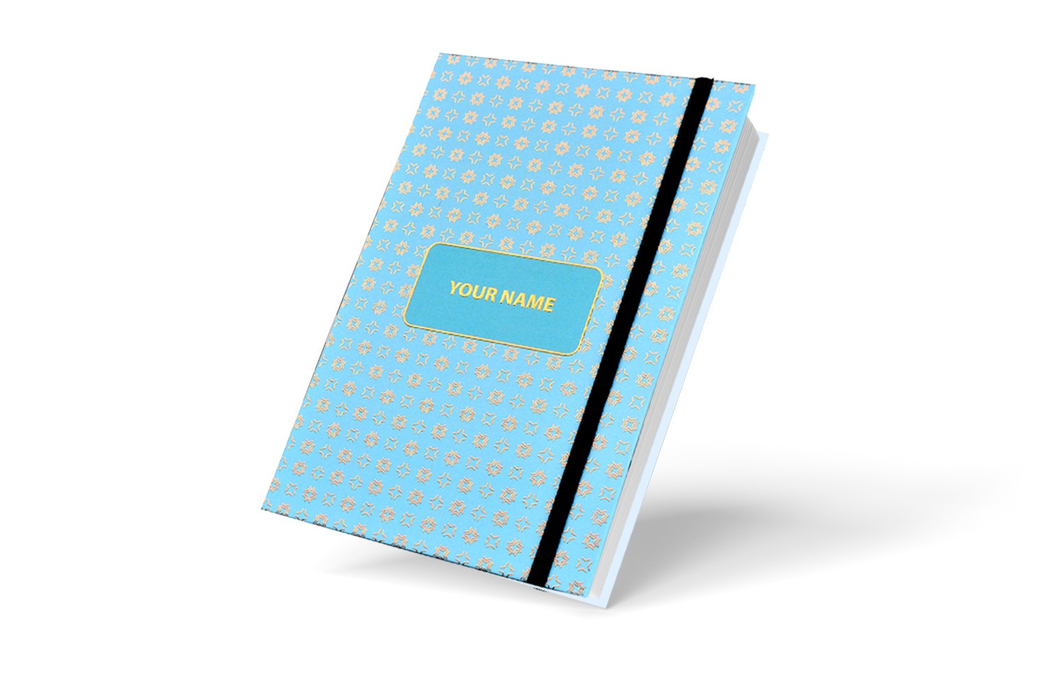 Sapphire Blue Abstract Personalised Notebook