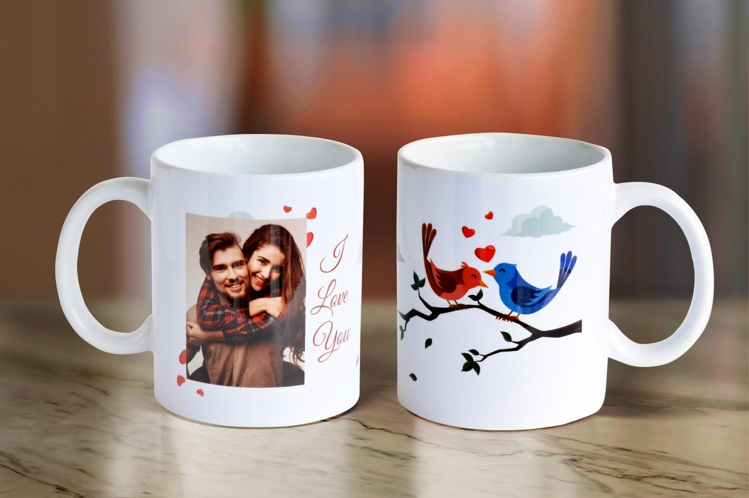 Lovebirds Personalised Mug