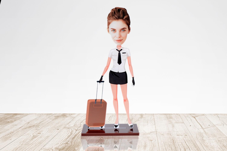 Air Hostess Caricature