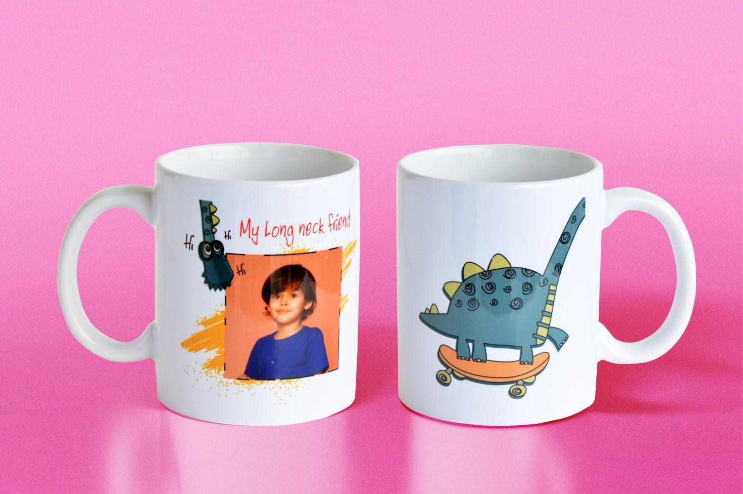 Long Neck Friend Personalised Mug