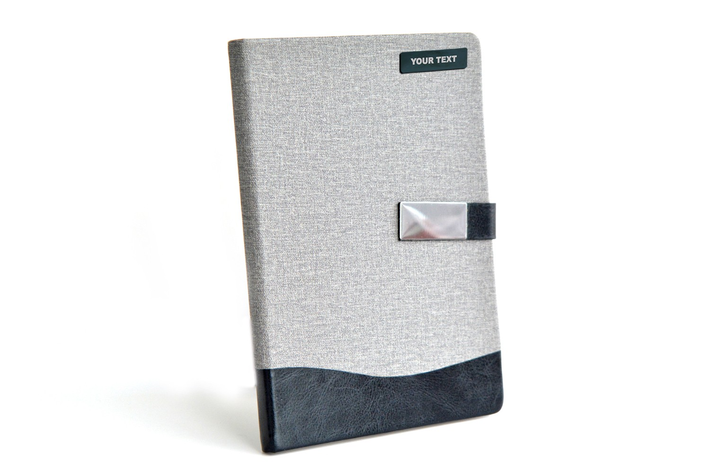 2 Tone Jute Personalised Diary