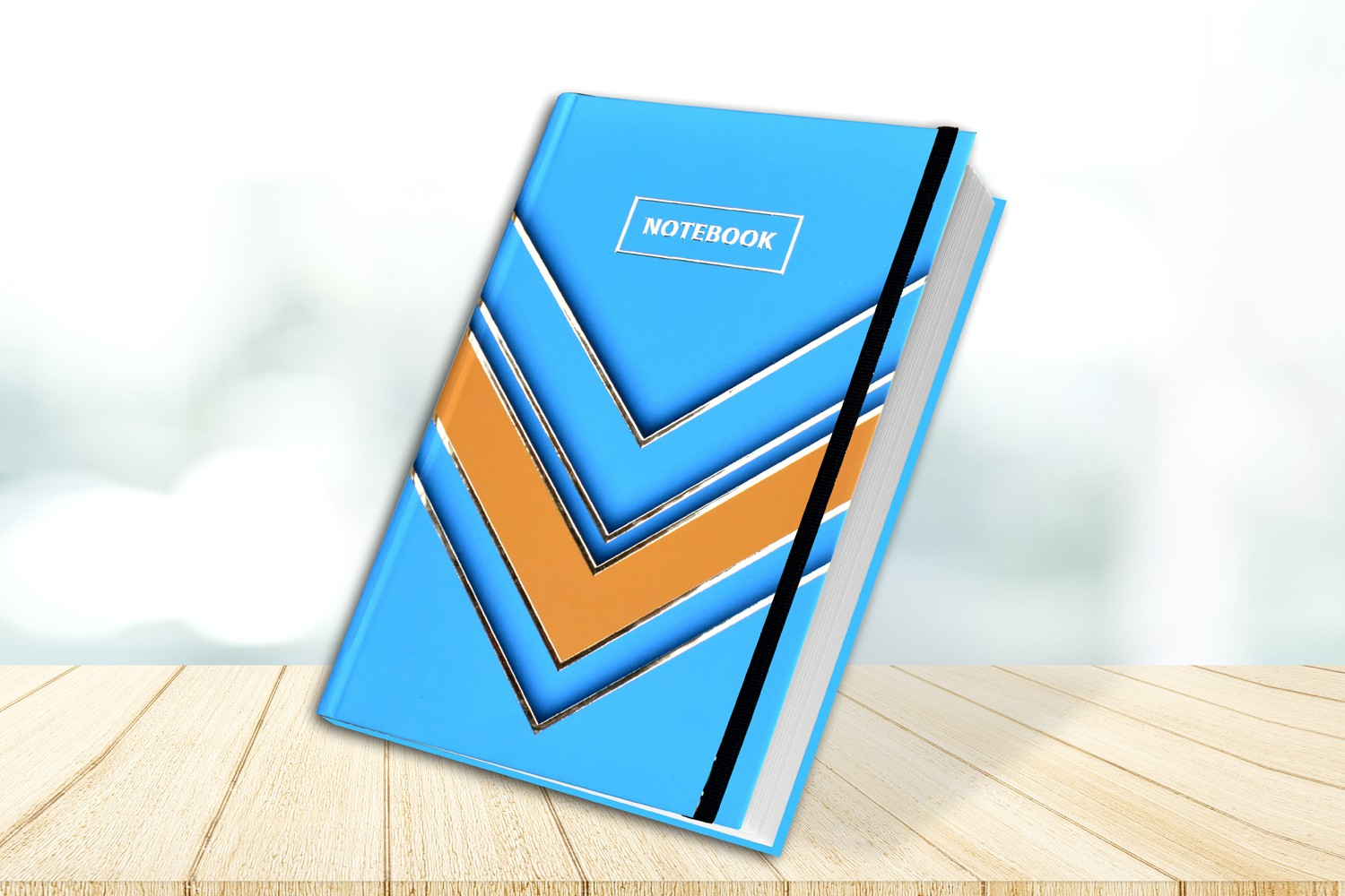 Sky Blue & Yellow Personalised Notebook