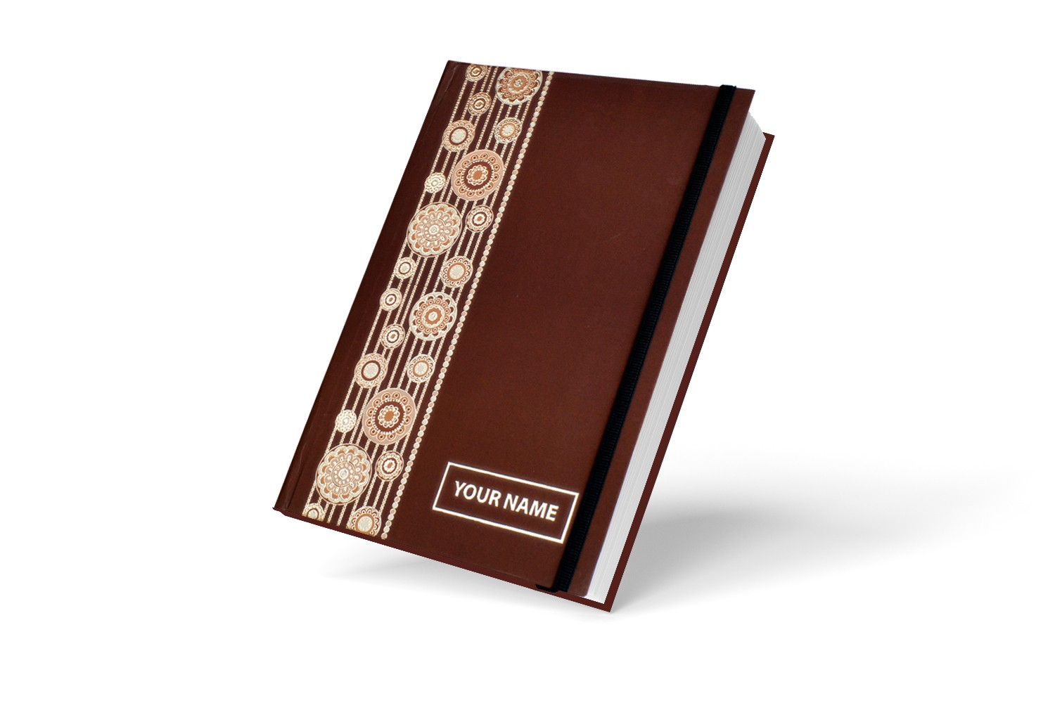 Brown Indian Classical  Personalised Notebook