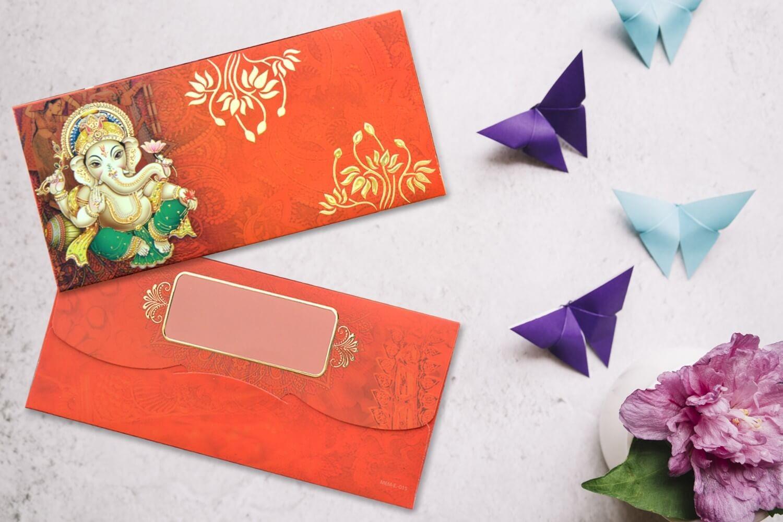 Shree Ganesha Shagun Envelope - Pack of 12