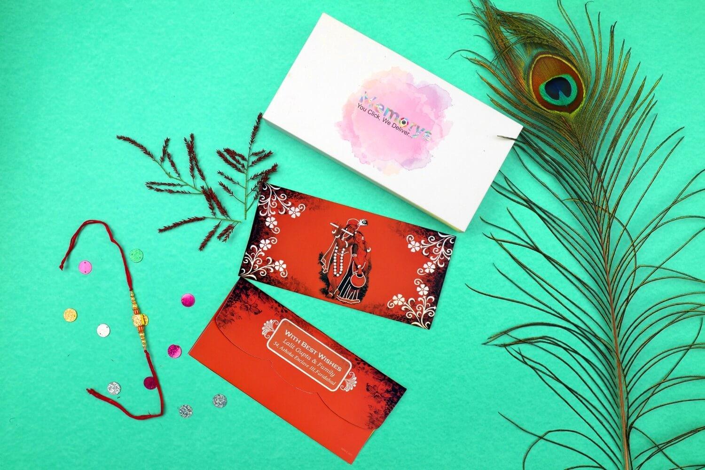 Radha Krishna Personalised  Shagun Envelopes - Pack of 20