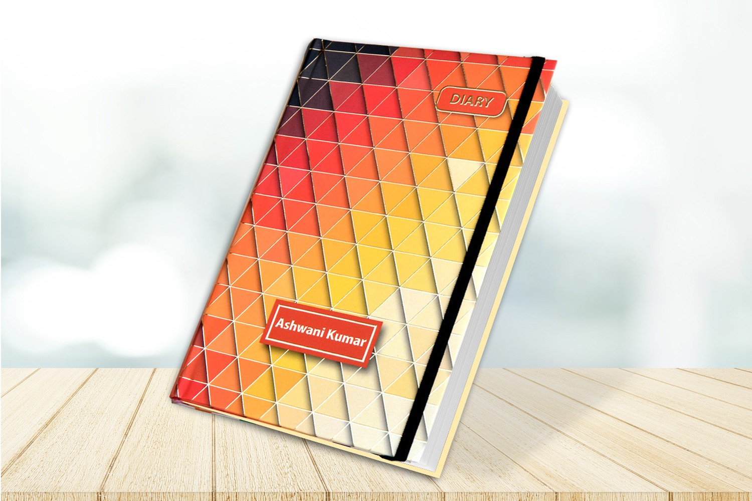 Colorful Triangle  Personalised Notebook