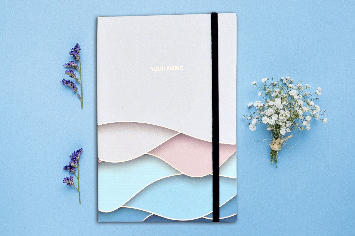 Color Waves  Personalised Notebook