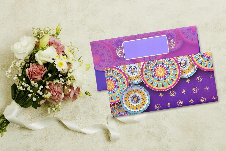Ancient Carnival Design Shagun Envelope - Pack of 12