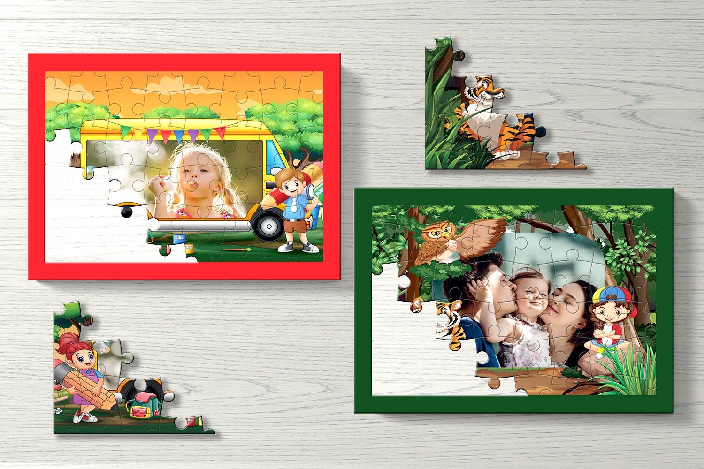 Jungle Safari Personalised Puzzle- Set of Two