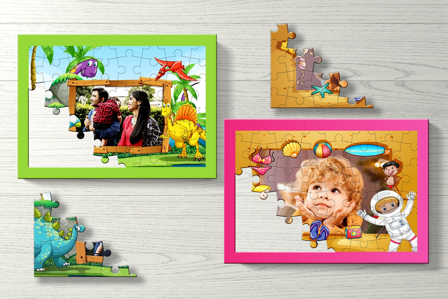 Cartoons Personalised Puzzle-Set of Two
