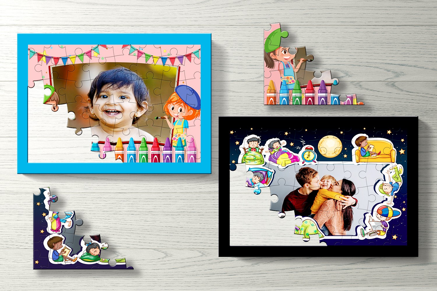 Festivity Personalised Puzzle - Set of Two