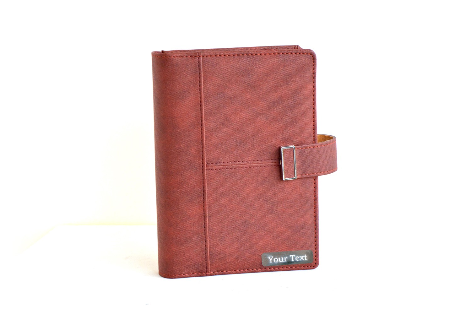 Personalised Leather Business Organiser - Brown