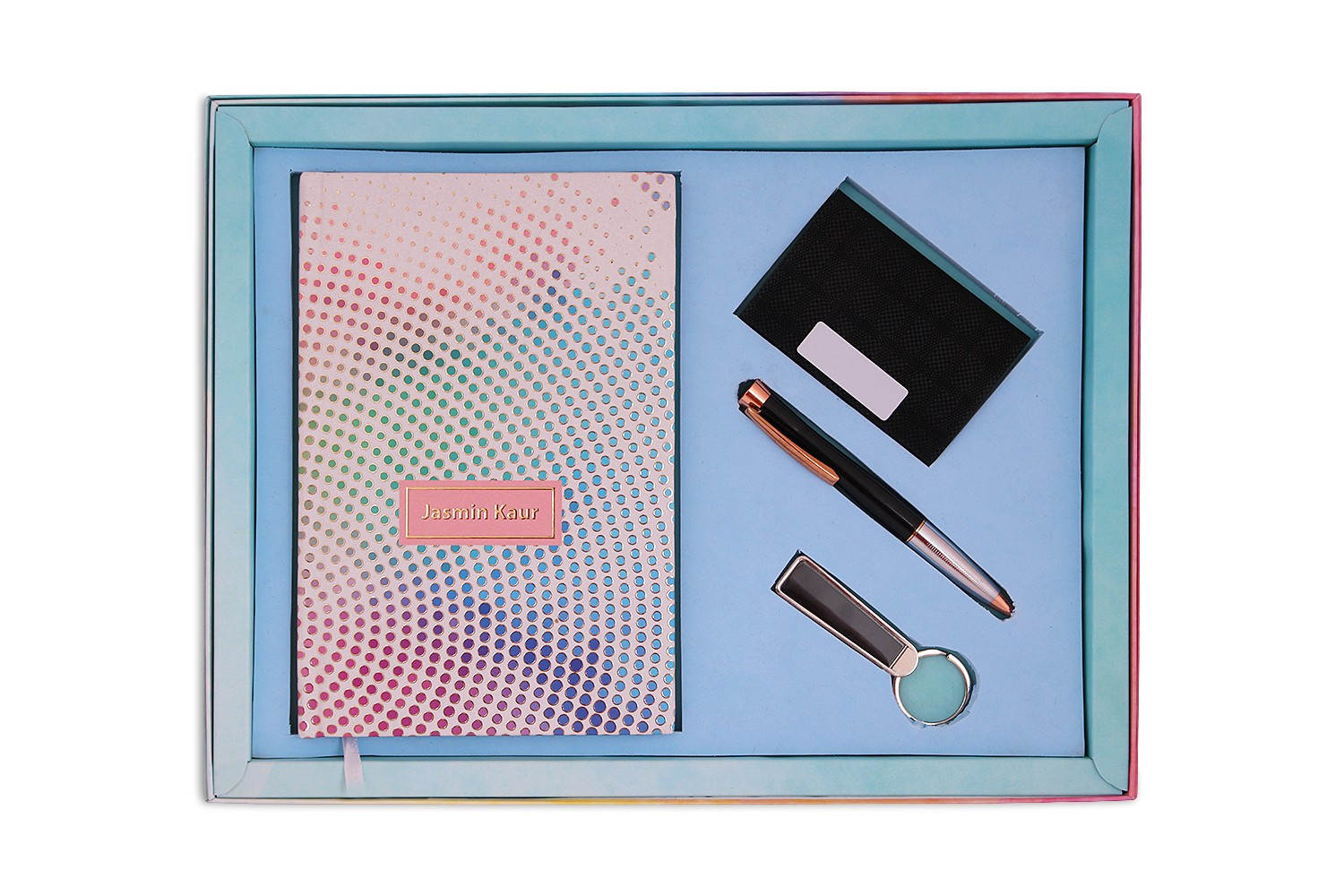 Dotted Illusion Notebook, CardHolder & Pen - Combo 3