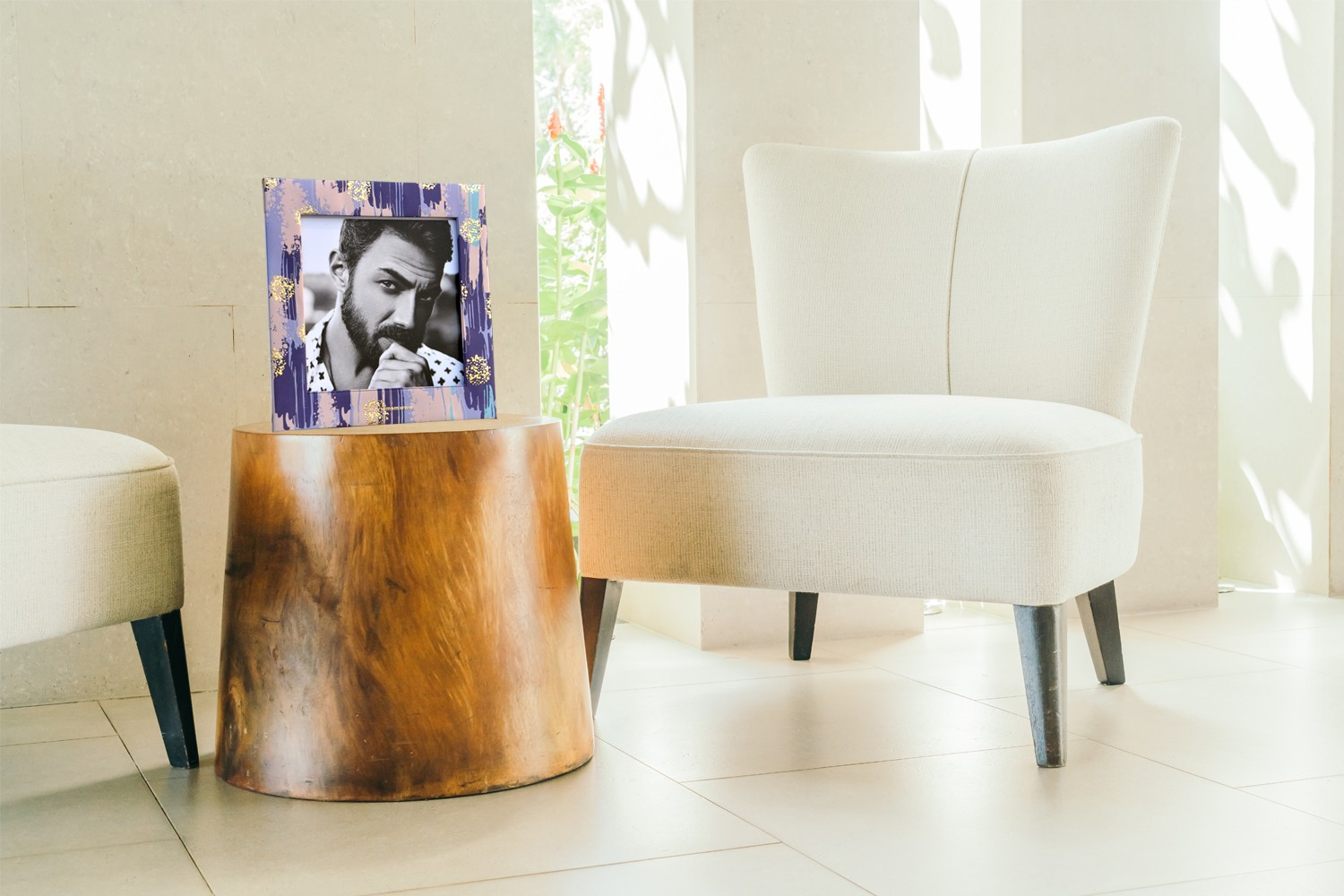 Water Color Effect Photo Frame